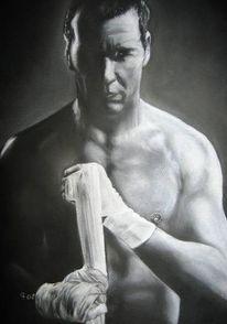 Boxer, Portrait, Zeichnung, Figur