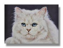 Weiß, Haustier, Malerei, Pastellmalerei