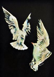 Malerei, Realismus, Vogel, Ölmalerei