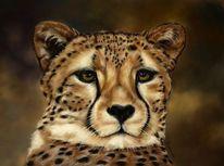 Pastellmalerei, Realismus, Tierwelt, Großkatze