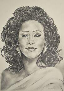 Realismus, Portrait, Bleistiftzeichnung, Zeichnung