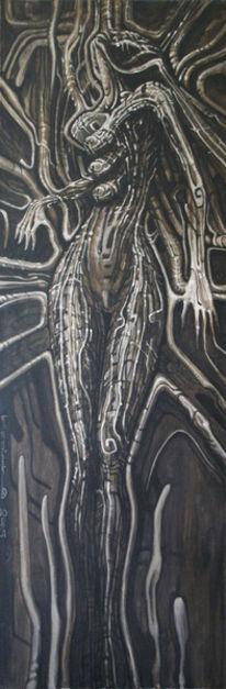 Fantasie, Surreal, Acrylmalerei, Dunkel