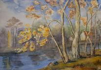 Laub, Gelb, Herbst, Baum