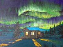 Alaska, Winter, Aurora borealis, Polarlicht