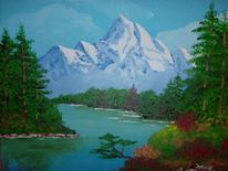 Berge, Usa, Malerei