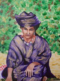 Frau, Sahara, Algerien, Hoggar