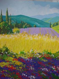 Provence, Frühling, Malerei