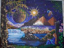 Traum, Sommernacht, Fantasie, Surreal