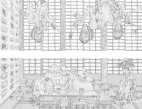 Japan, Bestattung, Tobias crone, Zeichnung