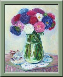 Vasa, Blumen, Wasser, Malerei