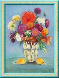 Vase, Wasser, Birnen, Blumen