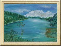 Himmel, Berge, Malerei