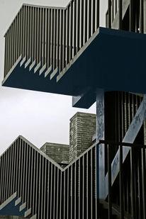 Architektur, Schwarz weiß, Fotografie, Treppe
