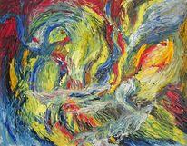 Höhle, Abstrakt, Ölmalerei, Malerei