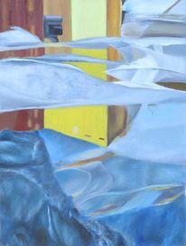 Brunnen, Räumlichkeit, Spiegelung, Malerei