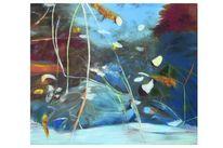 Winter, Metamorphose, Spiegelbild, Ölmalerei
