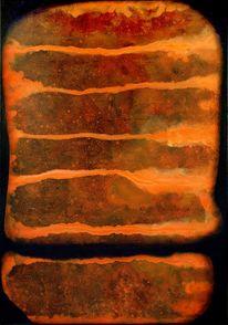 Abstrakt, Orange, Schwarz, Braun