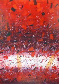 Rot, Weiß, Streifen, Violett