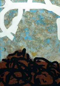 Grunge, Braun, Blau, Abstrakt