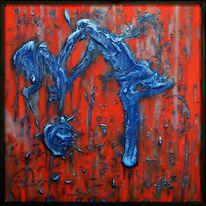 Materialbilder, Struktur, Rot, Blau