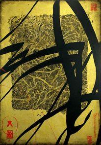 Schwarz, Vox, Acrylmalerei, Kalligrafie
