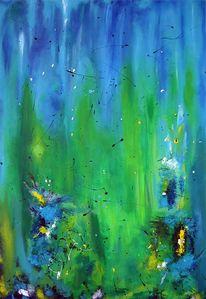 Malerei, Acrylmalerei, Abstrakt, Struktur