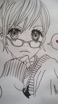 Kohlezeichnung, Bleistiftzeichnung, Zeichnungen, Manga