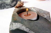 Teelicht, Kerzen, Teelichthalter, Speckstein