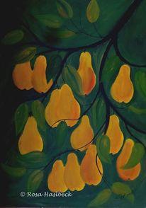 Herbst, Grün, Garten, Malerei