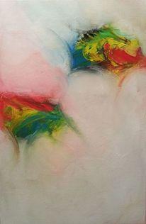 Abstrakt, Spachtel, Acrylmalerei, Malerei