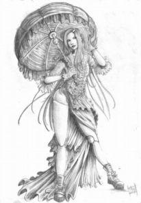 Puppe, Tattoovorlagen, Bleistiftzeichnung, Frau