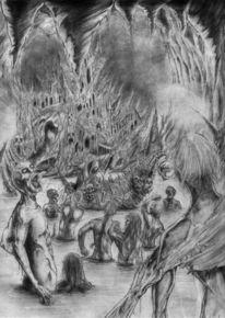 Styx, Fantasie, Zeichnungen, Fluss