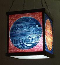 Lichtobjekt, Holzschitt, Leuchtobjekt, Druck