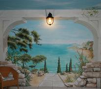 Wandmalerei, Landschaftsmalerei, Illusionsmalerei, L´oeil