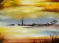 See, Pastellmalerei, Landschaft, Malerei