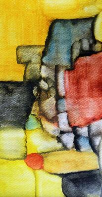 Farben, Fläche, Linie, Aquarell