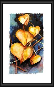 Blätter, Aquarellmalerei, Aquarell, Figural