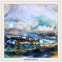 Schellack, Landschaft, Pigmente, Wachs