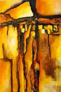 Abstrakt, Alu, Acrylmalerei, Malerei