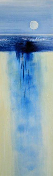 Landschaft, Abstrakt, Malerei, Nacht
