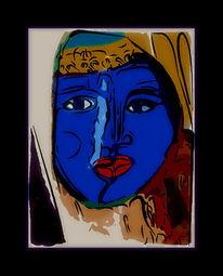 Digitale kunst, Surreal, Blau, Rot