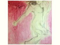 Tuschmalerei, Figur, Acrylmalerei, Raum