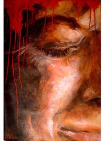Portrait, Blut, Schmerz, Gefühl