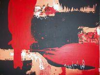 Modern, Acrylmalerei, Rot, Malerei