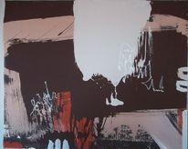 Modern, Braun, Acrylmalerei, Malerei
