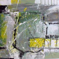 Acrylmalerei, Modern, Grau, Malerei