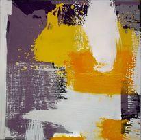 Modern, Gelb, Acrylmalerei, Malerei