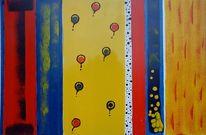 Lebensfreude, Ausgeglichenheit, Abstrakt, Gelb