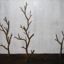 Telefon, Rot, Baum, Surreal
