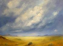 Wolken, Himmel, Wüste, Malerei